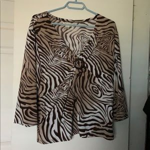 Traditions Animal Print Blouse